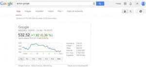 Suivre les cours de la bourse grace a Google recherche